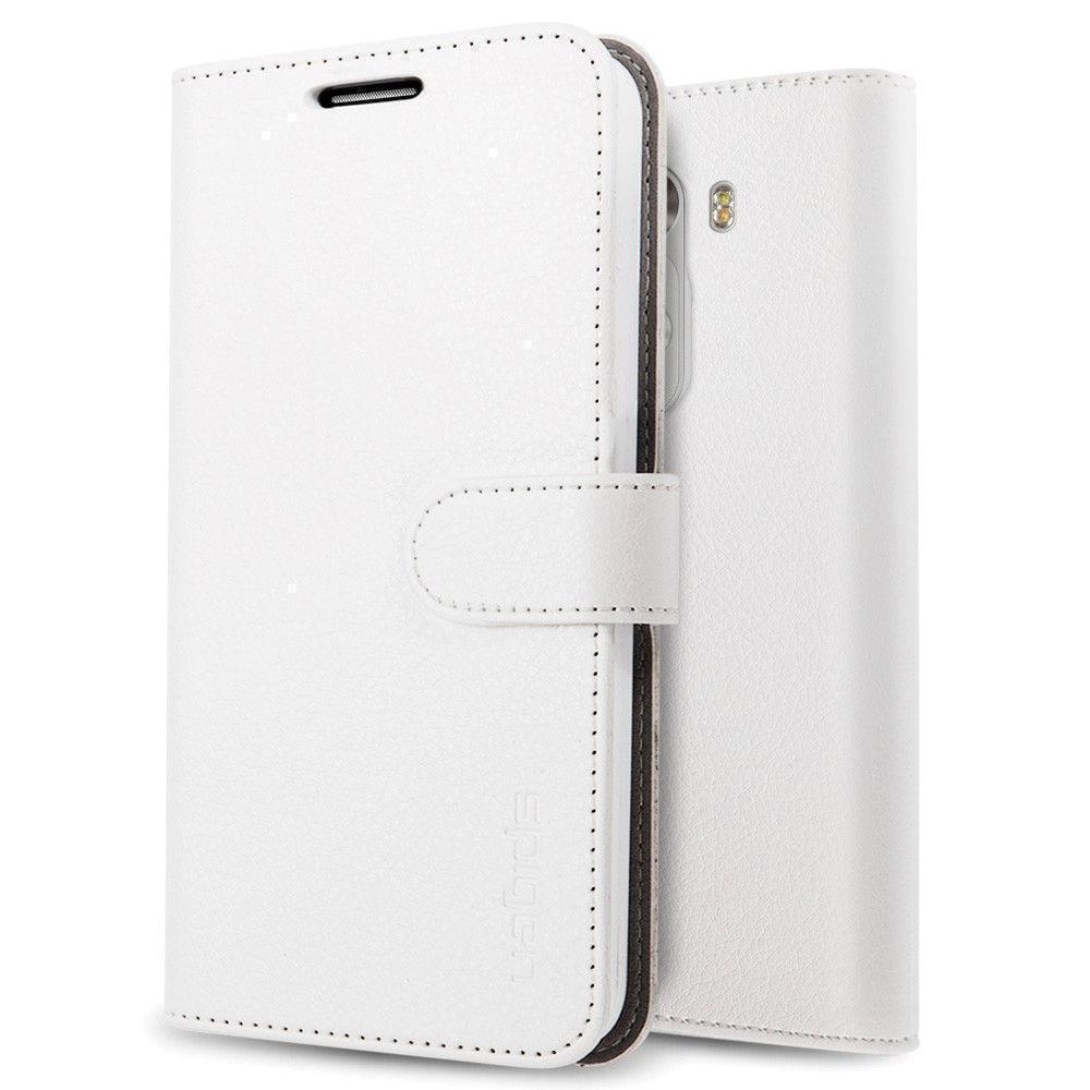 Чехол-книжка Spigen Wallet S (SGP10872) для LG G3 натуральная кожа белыйдля LG<br>Чехол-книжка Spigen Wallet S (SGP10872) для LG G3 натуральная кожа белый<br>