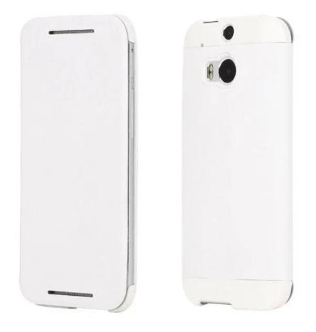 Чехол-книжка Pipilu Fib Color для HTC M8 натуральная кожа (белый) фото