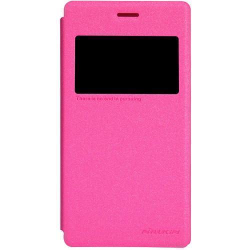 Чехол-книжка Nillkin Sparkle Series для Sony Xperia M2 (D2302/D2303) пластик-полиуретан розовый