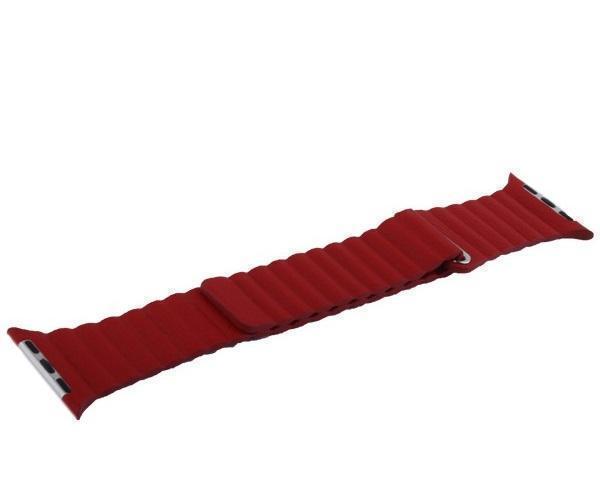 Купить Ремешок кожаный COTEetCI W7 Leather Magnet Band WH5205-RD для Apple Watch Series 4 40mm Красный