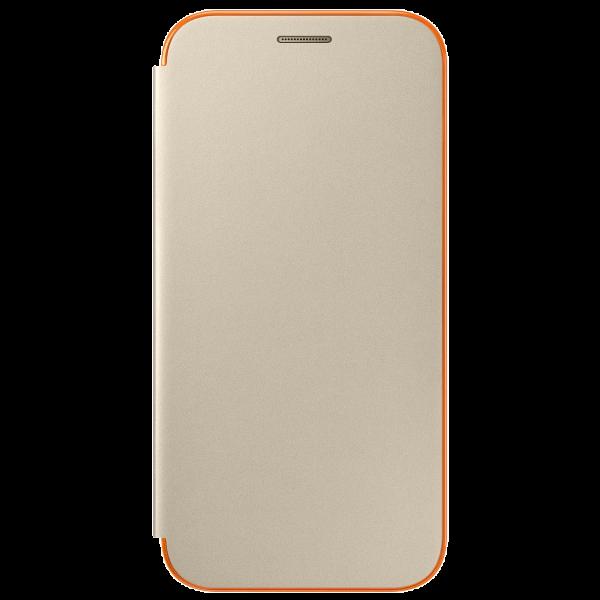 Чехол-книжка Samsung Neon Flip Cover для Galaxy A3 (2017) поликарбонат,полиуретан золотойдля Samsung<br>Чехол-книжка Samsung Neon Flip Cover для Galaxy A3 (2017) поликарбонат,полиуретан золотой<br>