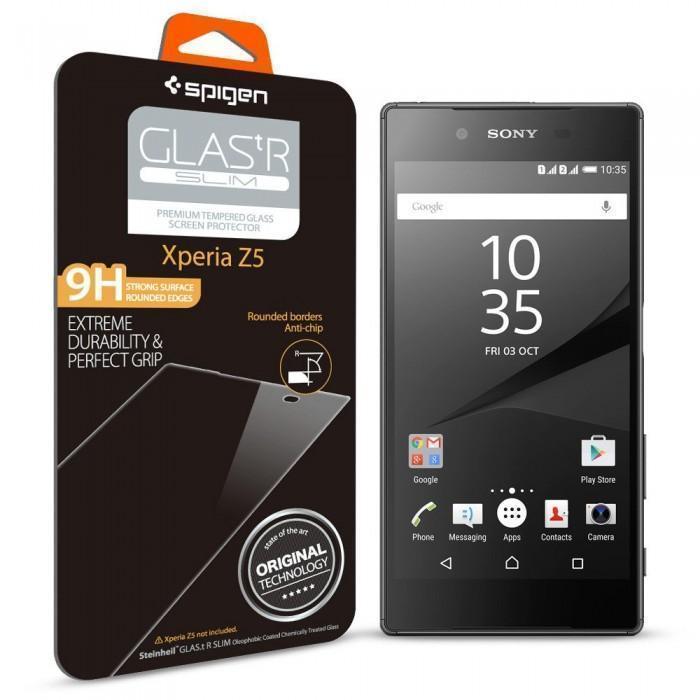 Защитное стекло Spigen SGP11777 Glas.tR Slim для Sony Xperia Z5 / Z5 Dualдля Sony<br>Защитное стекло Spigen SGP11777 Glas.tR Slim для Sony Xperia Z5 / Z5 Dual<br>