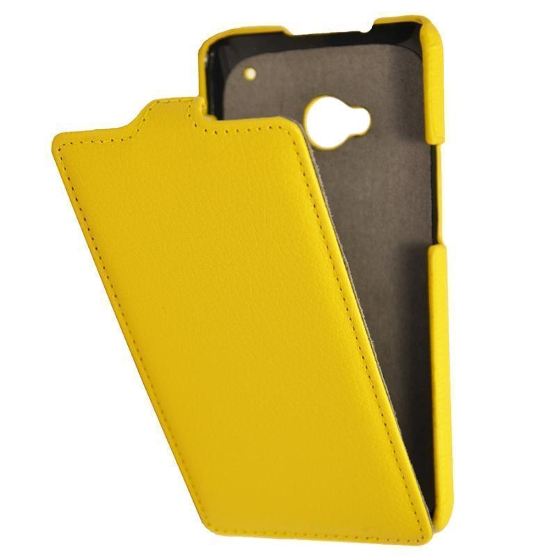 Чехол-книжка Armor Case для HTC One M7 Dual Sim искусственная кожа желтыйдля HTC<br>Чехол-книжка Armor Case для HTC One M7 Dual Sim искусственная кожа желтый<br>