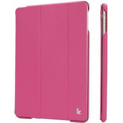 Чехол-книжка JisonCase для Apple iPad Air 2 искусственная кожа с подставкой (розовая фуксия) фото