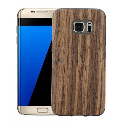 Чехол-накладка Rock Origin Series Grained для Samsung Galaxy S7 Edge (Rosewood) фото
