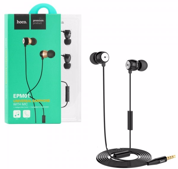 �������� Hoco Universal Earphone With Mic EPM01 black