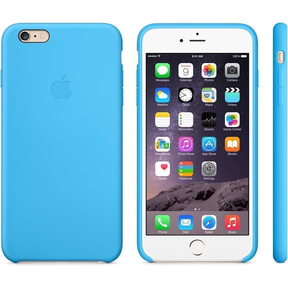 Чехол-накладка Apple Silicone Case для iPhone 6 Plus/6S Plus силиконовый Blue (MGRH2ZM/A)для iPhone 6 Plus/6S Plus<br>Чехол-накладка Apple Silicone Case для iPhone 6 Plus/6S Plus силиконовый Blue (MGRH2ZM/A)<br>