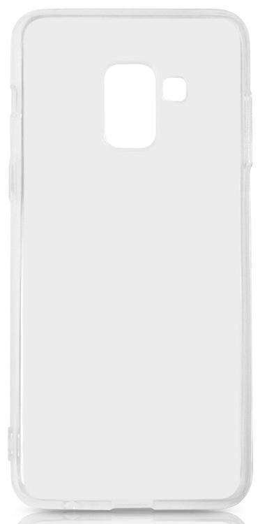 Чехол-накладка для Samsung Galaxy A8 силиконовый (прозрачный) фото