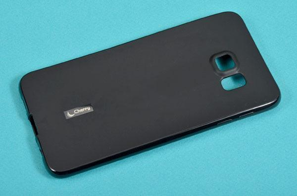 Купить Чехол-накладка Cherry для Samsung Galaxy S6 Edge Plus силиконовый матовый (черный)