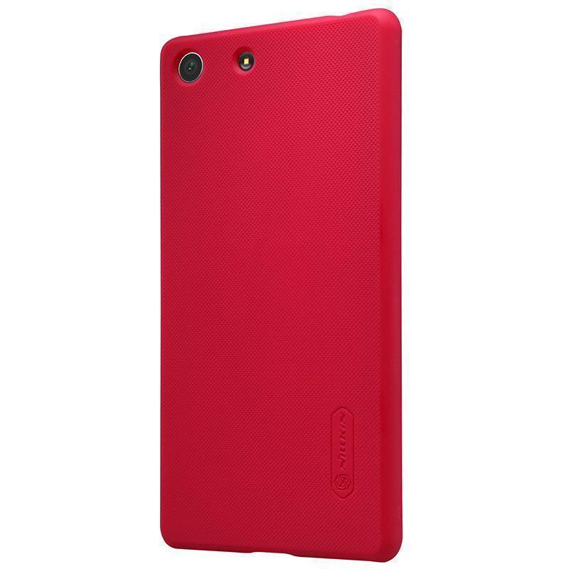 Чехол-накладка Nillkin Frosted Shield для Sony Xperia M5 / M5 Dual пластиковый красный