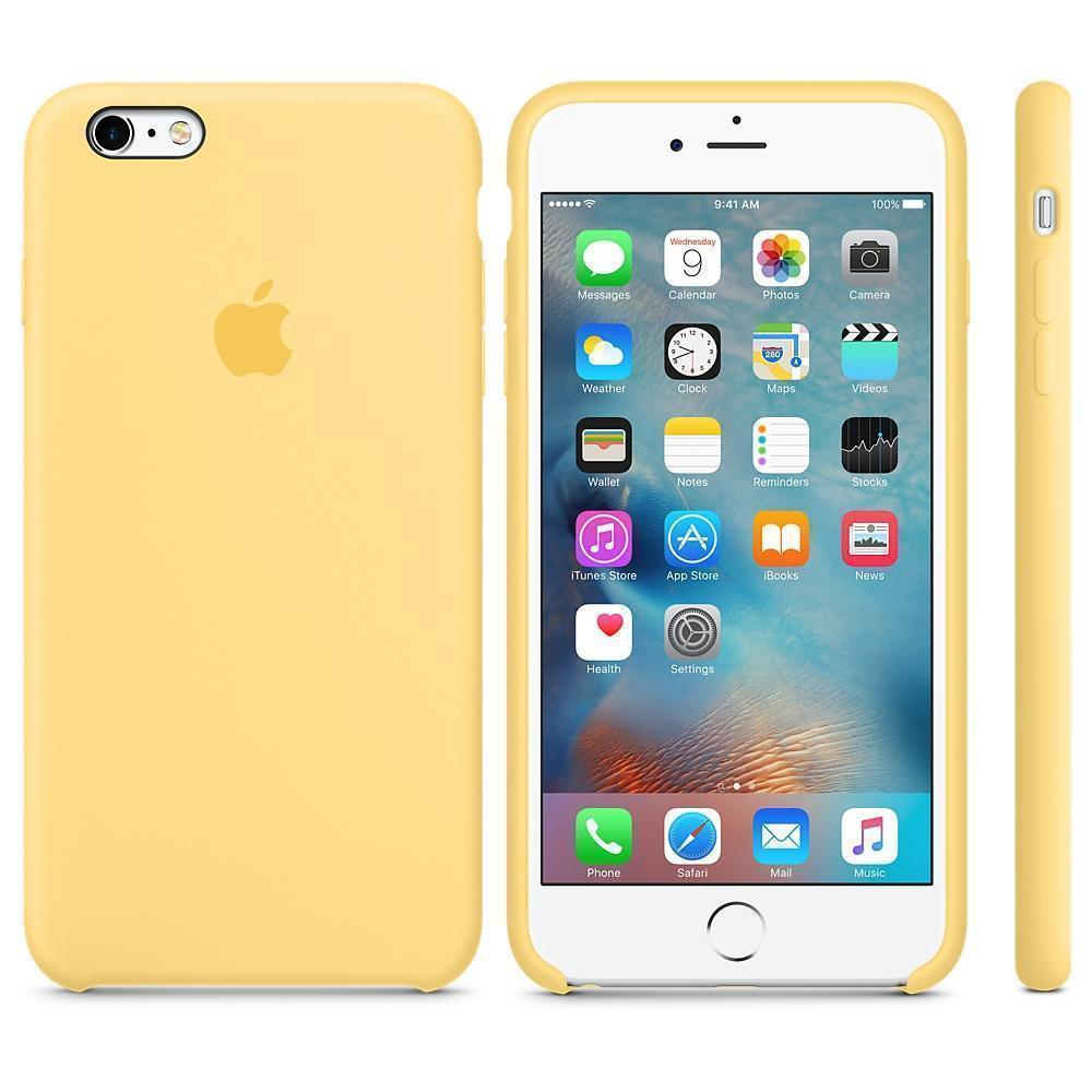 Чехол-накладка Apple Silicone Case для iPhone 6 Plus/6S Plus силиконовый желтыйдля iPhone 6 Plus/6S Plus<br>Чехол-накладка Apple Silicone Case для iPhone 6 Plus/6S Plus силиконовый желтый<br>