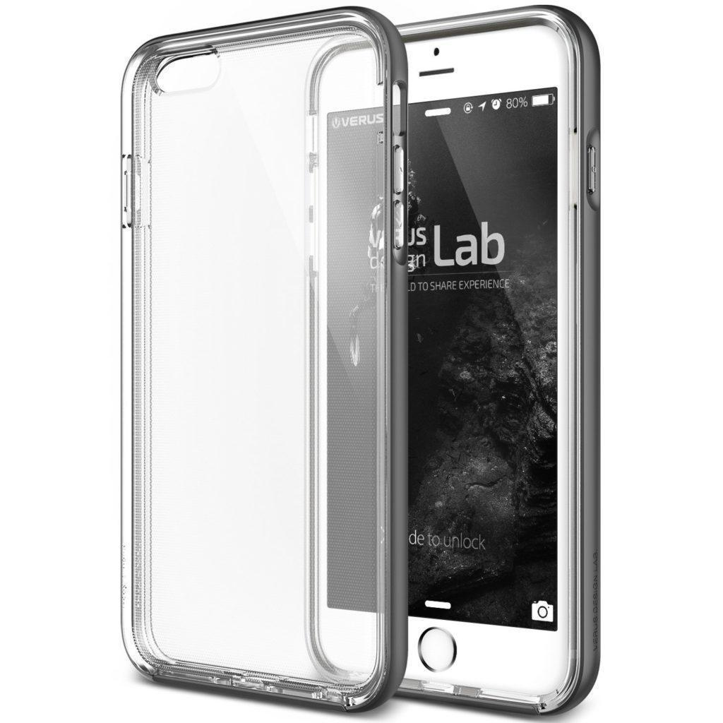 Чехол-накладка Verus New Crystal Bumper для Apple iPhone 6/6S (9004490) пластик, силикон Space Grayдля iPhone 6/6S<br>Чехол-накладка Verus New Crystal Bumper для Apple iPhone 6/6S (9004490) пластик, силикон Space Gray<br>