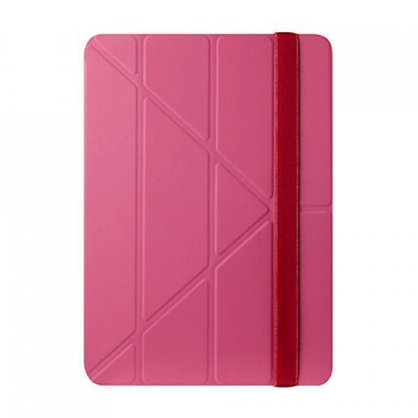Чехол-книжка Ozaki O!Coat Slim-Y 360° для Apple iPad Air (полиуретан с подставкой) розовый