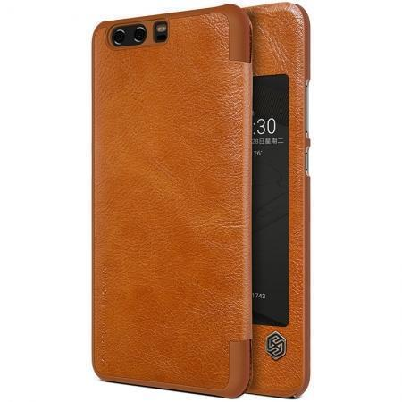Чехол-книжка Nillkin QIN Leather Case для Huawei P10 / P10 Dual sim натуральная кожа (коричневый)для Huawei<br>Чехол-книжка Nillkin QIN Leather Case для Huawei P10 / P10 Dual sim натуральная кожа (коричневый)<br>