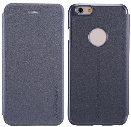 Чехол-книжка Nillkin Sparkle Series для Apple iPhone 6 Plus/6S Plus пластик-полиуретан черныйдля iPhone 6 Plus/6S Plus<br>Чехол-книжка Nillkin Sparkle Series для Apple iPhone 6 Plus/6S Plus пластик-полиуретан черный<br>