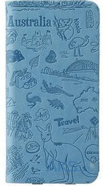 Чехол-книжка Ozaki O!coat Travel Sydney для Apple iPhone 6 Plus/6S Plus натуральная кожа голубой