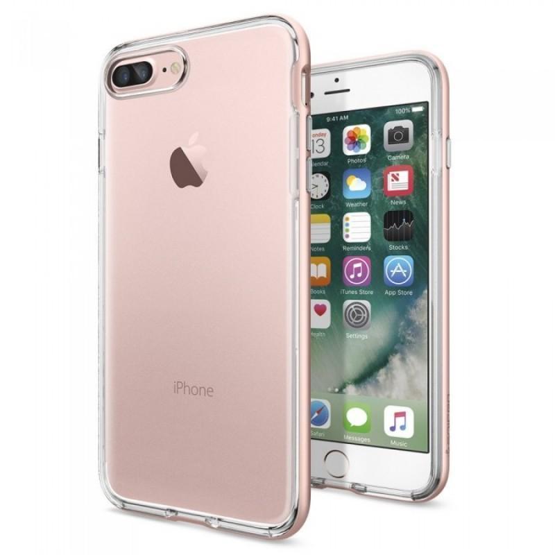 Чехол-накладка Spigen Neo Hybrid Crystal для Apple iPhone 7 Plus/8 Plus Rose Gold (SGP 043CS20542)для iPhone 7 Plus/8 Plus<br>Чехол-накладка Spigen Neo Hybrid Crystal для Apple iPhone 7 Plus/8 Plus Rose Gold (SGP 043CS20542)<br>