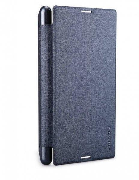Чехол-книжка Nillkin Sparkle Series для Sony Xperia E3 (D2212/D2203) пластик-полиуретан черныйдля Sony<br>Чехол-книжка Nillkin Sparkle Series для Sony Xperia E3 (D2212/D2203) пластик-полиуретан черный<br>