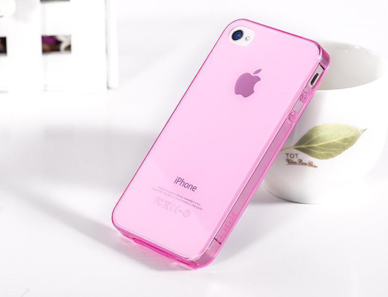 Чехол-накладка Hoco Ultra Thin Case для Apple iPhone 4/4S розоваядля iPhone 4/4S<br>Чехол-накладка Hoco Ultra Thin Case для Apple iPhone 4/4S розовая<br>