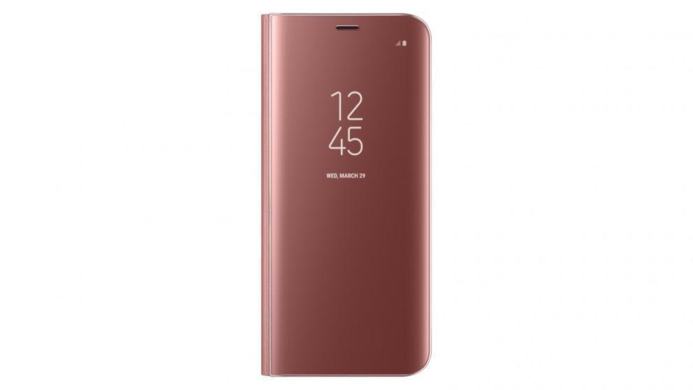 Чехол-книжка Samsung Clear View Standing Cover для Galaxy S8 поликарбонат прозрачно-розовыйдля Samsung<br>Чехол-книжка Samsung Clear View Standing Cover для Galaxy S8 поликарбонат прозрачно-розовый<br>