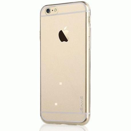 Чехол-накладка Usams Fancy Series для Apple iPhone 6/6S силиконовый (прозрачно-золотой) фото