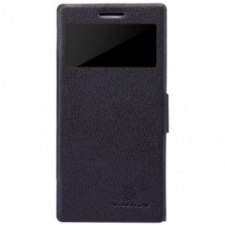 Чехол-книжка Nillkin Sparkle Series для Huawei Ascend P6 пластик-полиуретан (черный)для Huawei<br>Чехол-книжка Nillkin Sparkle Series для Huawei Ascend P6 пластик-полиуретан (черный)<br>