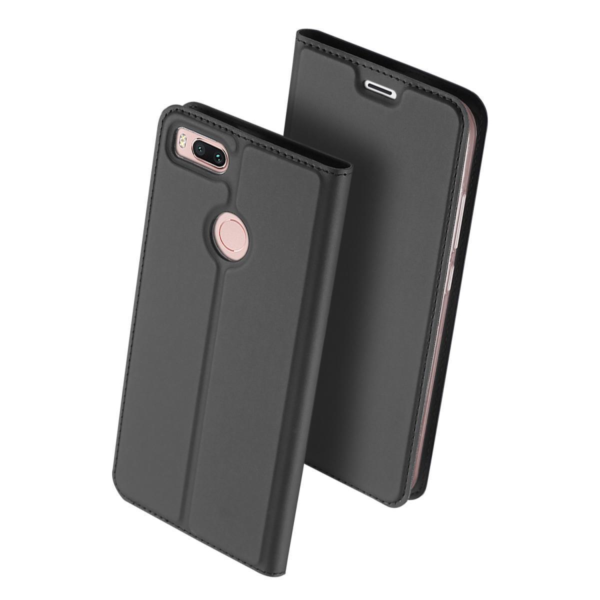 Купить Чехол-книжка Flip Case для Xiaomi Mi 5X / Mi A1 искусственная кожа, силикон (черный)