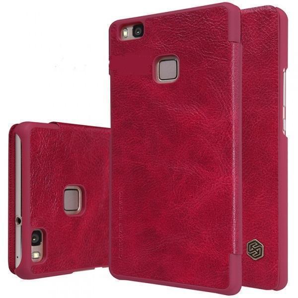 Чехол-книжка Nillkin QIN Leather Case для Huawei P9 Lite натуральная кожа (красный)для Huawei<br>Чехол-книжка Nillkin QIN Leather Case для Huawei P9 Lite натуральная кожа (красный)<br>