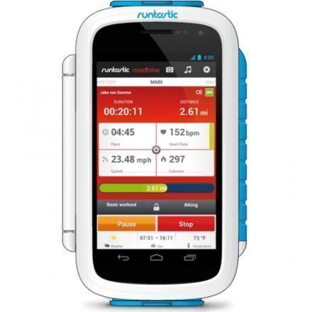 Держатель для велосипеда Runtastic Bike Case для телефона 3.7-5 дюймов белыйДержатель для велосипеда<br>Держатель для велосипеда Runtastic Bike Case для телефона 3.7-5 дюймов белый<br>