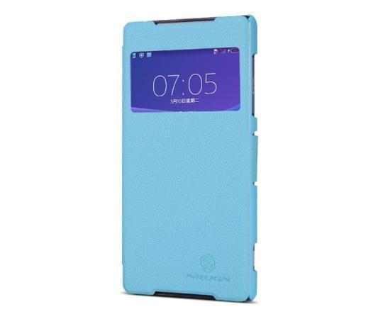 Чехол-книжка Nillkin Fresh Series для Sony Xperia Z2 натуральная кожа бирюзовыйдля Sony<br>Чехол-книжка Nillkin Fresh Series для Sony Xperia Z2 натуральная кожа бирюзовый<br>