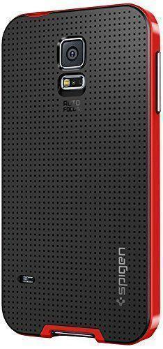 Чехол-накладка Spigen Neo Hybrid SGP10772 для Samsung Galaxy S5 резина, пластик (красный)для Samsung<br>Чехол-накладка Spigen Neo Hybrid SGP10772 для Samsung Galaxy S5 резина, пластик (красный)<br>
