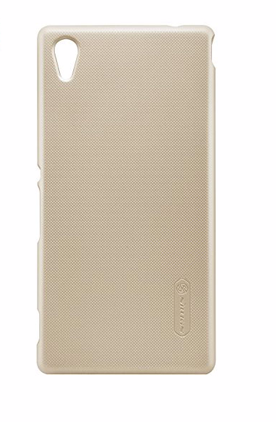 Чехол-накладка Nillkin Frosted Shield для Sony Xperia M4 Aqua / M4 Aqua Dual пластиковый золотойдля Sony<br>Чехол-накладка Nillkin Frosted Shield для Sony Xperia M4 Aqua / M4 Aqua Dual пластиковый золотой<br>