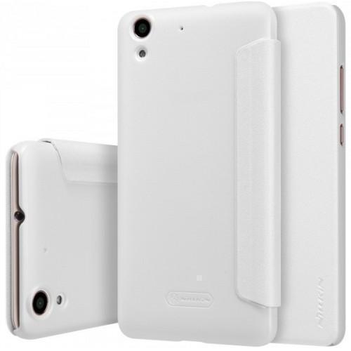 Чехол-книжка Nillkin Sparkle Series для Huawei Y6 II пластик-полиуретан (белый)для Huawei<br>Чехол-книжка Nillkin Sparkle Series для Huawei Y6 II пластик-полиуретан (белый)<br>