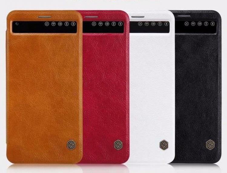 Чехол-книжка Nillkin QIN Leather Case для LG V20 / V20 Dual натуральная кожа белый