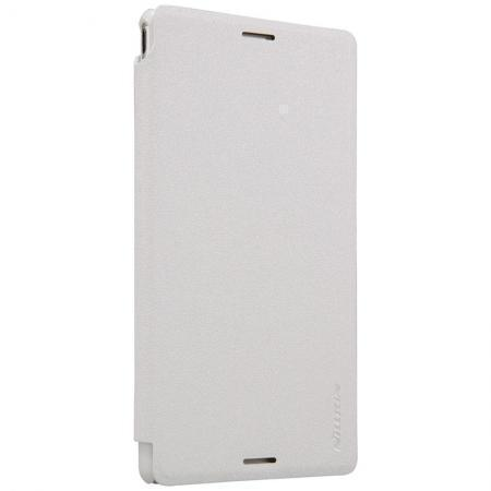 Чехол-книжка Nillkin Sparkle Series для Sony Xperia M4 Aqua (E2303/E2333) пластик-полиуретан (белый)для Sony<br>Чехол-книжка Nillkin Sparkle Series для Sony Xperia M4 Aqua (E2303/E2333) пластик-полиуретан (белый)<br>