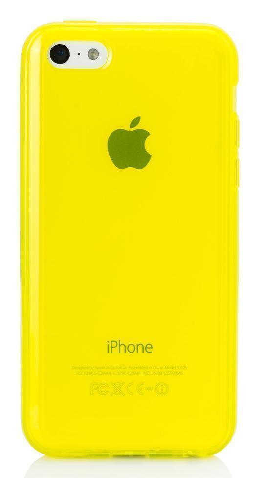 Купить Чехол-накладка для Apple iPhone 5C силиконовый (желтый)