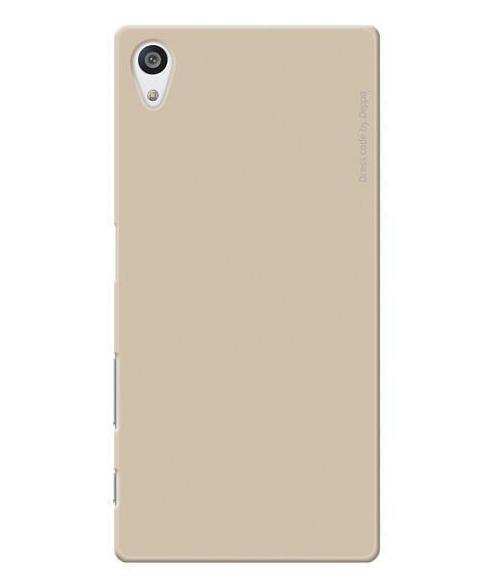 Купить Чехол-накладка Deppa Air Case для Sony Xperia Z5 Premium пластик+защитная пленка (Gold)