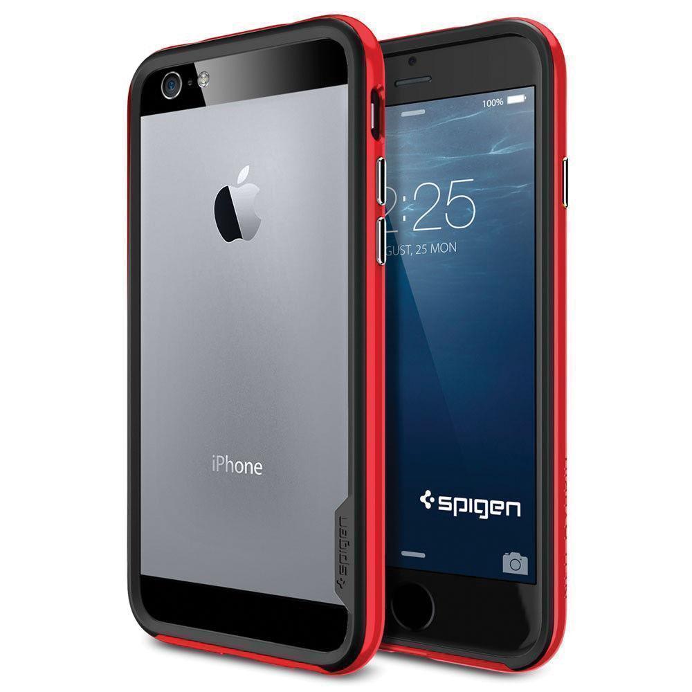 Фото #1: Чехол-бампер Spigen Neo Hybrid EX для Apple iPhone 6/6S Dante Red (SGP11025)