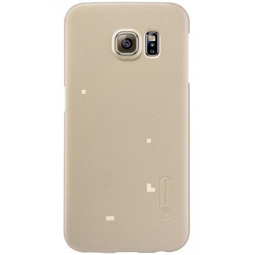 Купить Чехол-накладка Nillkin Frosted Shield для Samsung Galaxy S6 (пластиковый) (Gold)