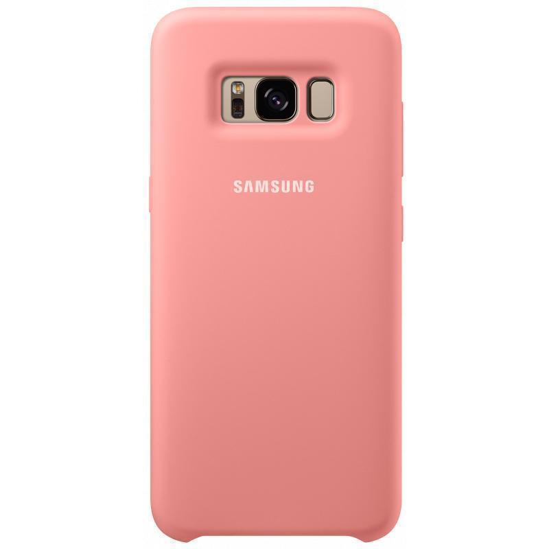 Чехол-накладка Samsung Silicone Cover для Galaxy S8+ силикон розовый (EF-PG955TPEGRU)для Samsung<br>Чехол-накладка Samsung Silicone Cover для Galaxy S8+ силикон розовый (EF-PG955TPEGRU)<br>