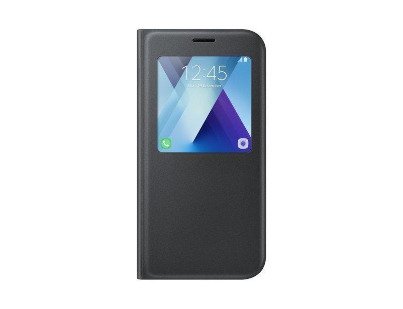 Чехол-книжка Samsung S-View Standing Cover для Galaxy A7 (2017) полиуретан, поликарбонат черныйдля Samsung<br>Чехол-книжка Samsung S-View Standing Cover для Galaxy A7 (2017) полиуретан, поликарбонат черный<br>