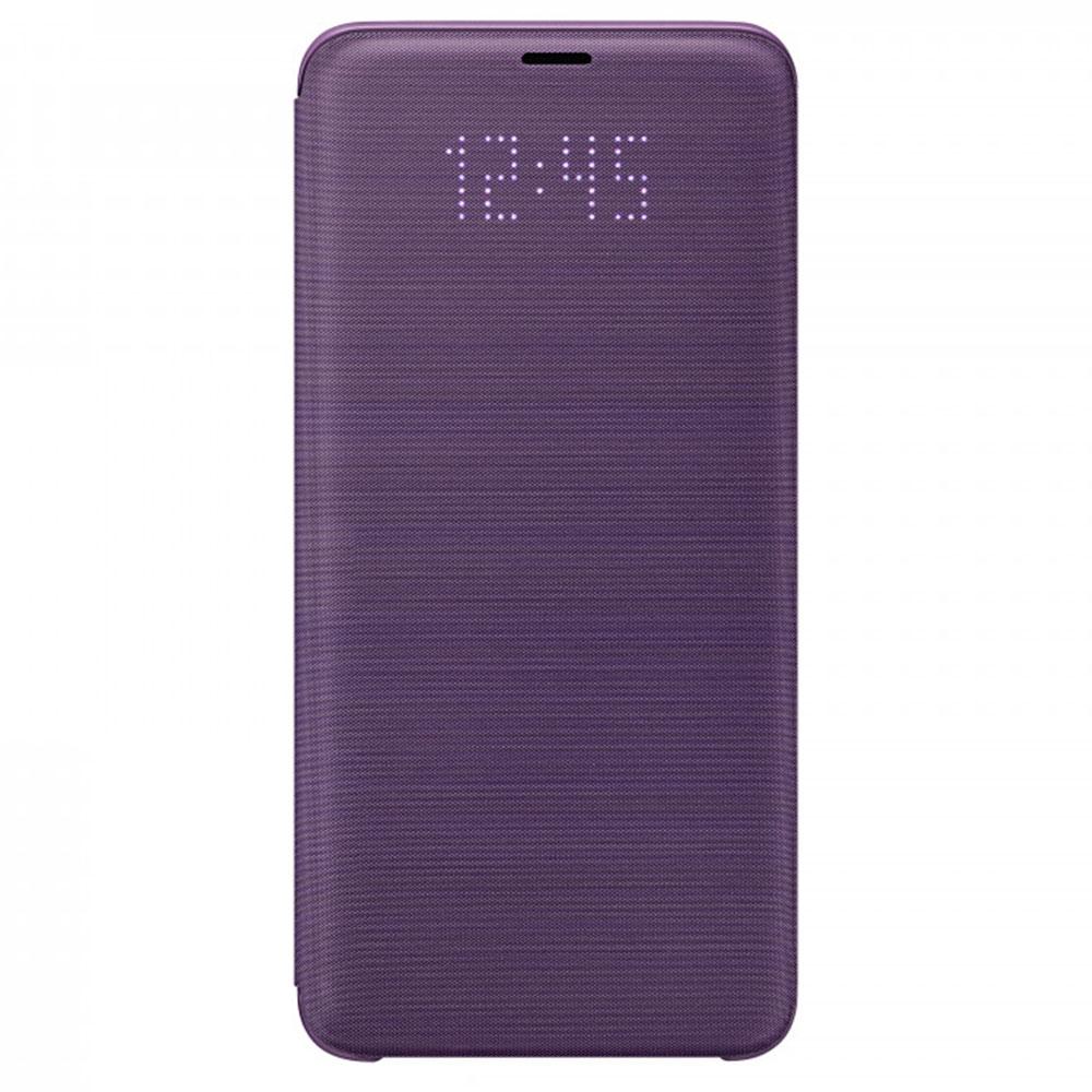 Купить Чехол-книжка Samsung LED View Cover для Galaxy S9 поликарбонат (фиолетовый) (EF-NG960PVEGWW)