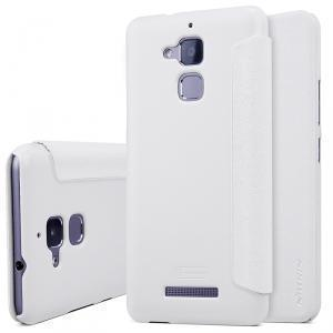 Чехол-книжка Nillkin Sparkle Series для Asus Zenfone 3 Max (ZC520TL) пластик-полиуретан (белый)