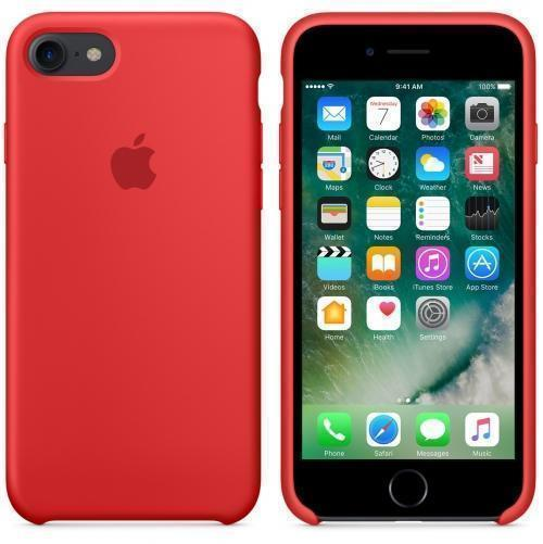 Чехол-накладка Apple Silicone Case для iPhone 7/8 силиконовый красный (MMWN2ZM/A)для iPhone 7/8<br>Чехол-накладка Apple Silicone Case для iPhone 7/8 силиконовый красный (MMWN2ZM/A)<br>