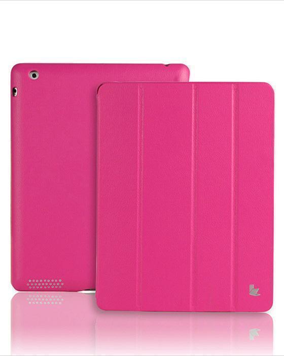 Чехол-книжка Smart Case для Apple iPad 2/3/4 (искусственная кожа с подставкой) розовый