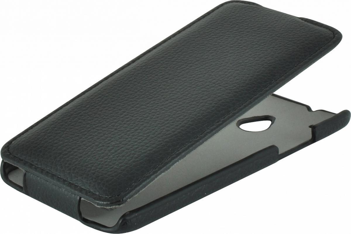 Чехол-книжка Armor Case для HTC One mini искусственная кожа черныйдля HTC<br>Чехол-книжка Armor Case для HTC One mini искусственная кожа черный<br>