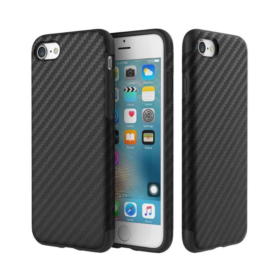 Чехол-накладка Rock Origin Series Textured для Apple iPhone 7/8 карбон/силикон Blackдля iPhone 7/8<br>Чехол-накладка Rock Origin Series Textured для Apple iPhone 7/8 резина карбон Black<br>