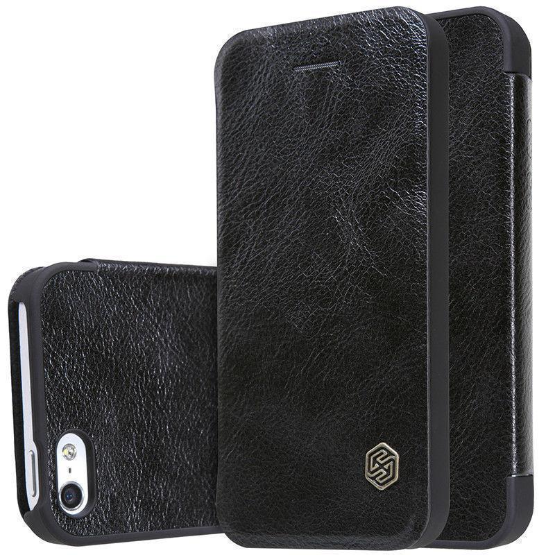 Чехол-книжка Nillkin QIN Leather Case для Apple iPhone SE/5S/5 натуральная кожа черныйдля iPhone 5/5S/SE<br>Чехол-книжка Nillkin QIN Leather Case для Apple iPhone SE/5S/5 натуральная кожа черный<br>