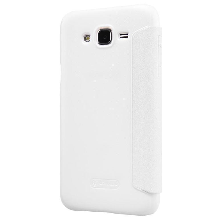 Чехол-книжка Nillkin Sparkle Series для Samsung Galaxy J5 (2016) SM-J510 пластик-полиуретан (белый)для Samsung<br>Чехол-книжка Nillkin Sparkle Series для Samsung Galaxy J5 (2016) SM-J510 пластик-полиуретан (белый)<br>