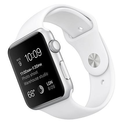 Apple Watch Series 1 42mm Silver Aluminum Case with White Sport Band MNNL2Apple Watch<br>Apple Watch Series 1 42mm Silver Aluminum Case with White Sport Band MNNL2<br>